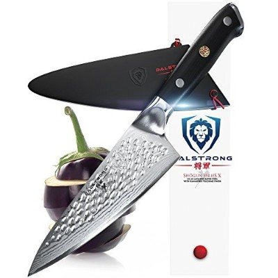 DALSTRONG Small Chef's Knife - Shogun Series X Gyuto - VG10 - Hammered Finish - 15cm - w/Guard...