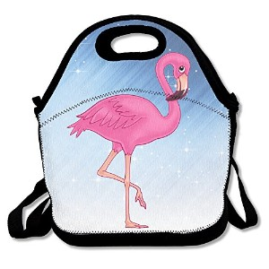 xiisxinピンクFlamingo Lunch Tote Bag – Large & Thickの断熱トート – Suitメンズレディースキッズ One Size ブラック Xiisxin-BDB...