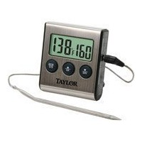 Taylor Digital Cooking Thermometer with Probe Plus Timer, 1487 by Taylor