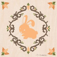 Oopsy Daisy Enchanted Forest Rabbit by Jenクリストファー・キャンバス壁アート、10by 10-inch