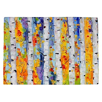 DIANOCHEキッチンPlaceマットby Karen Tarlton – Birch Trees Set of 2 Placemats PM-KarenTarlBirchTrees1