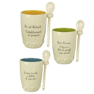 Grasslands Road Coffee Mug With Attachedスプーン、14オンス、セラミック、Do Not Disturb。。。by Grasslands Road