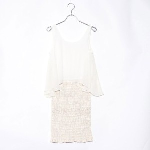 【SALE 75%OFF】ロイヤルパーティー プロデュースド バイ ルーミィーズ ROYAL PARTY produced by Roomy's OUTLET シャーリングタイトワンピース ...