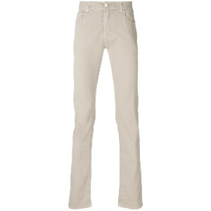 Jacob Cohen classic slim-fit chinos - ブラウン