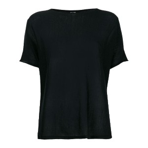 Kristensen Du Nord sheer shortsleeved T-shirt - ブラック