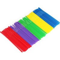 100のパックカラフルDrinking Straws – Long and Flexible – 使い捨て – Ideal Forパーティ、バー、Drinks、スムージー – Useful for...