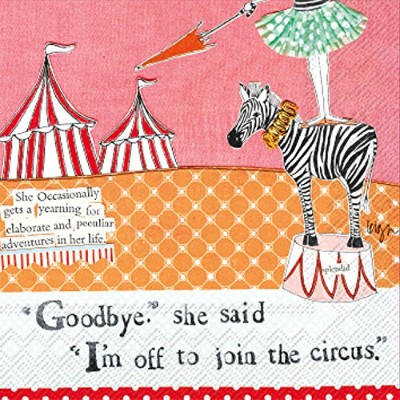 Ideal Home Range 20 Count Circus Paper Cocktail Napkins