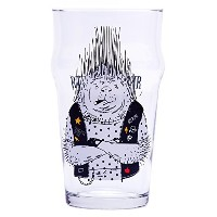 Funny Pint Glass–Porcupine Biker–17G–クラシックBritish Nonic形状クリスマスギフトとして–Perfect for him and...