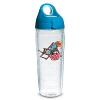 Tervis 1232006ビーチ椅子Teal Tumbler with Emblem andターコイズ蓋24oz水ボトル、クリア