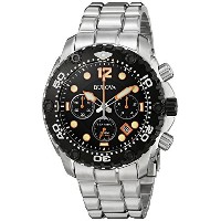 ブローバ Bulova 98B244 Mens Sea King UHF Steel Chronograph Watch [並行輸入品]