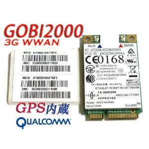 Lenovo UNLOCKED Thinkpad GOBI 2000 3G WWAN CARD 60Y3183