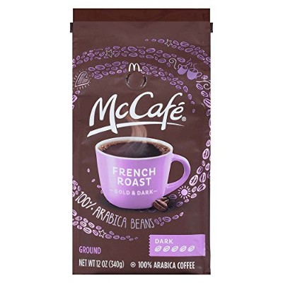 McCafe Coffee Ground Coffee, French Dark Roast, 12 Ounce (Pack of 6) by McCafe Coffee