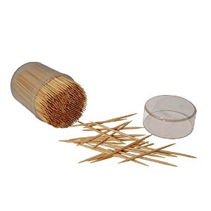 Hanamal竹木製Toothpicks 2 x 500 ( 1000pcs ) 4x500 A6012