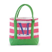 Mud Pie Juco Initial Tote, M by Mud Pie