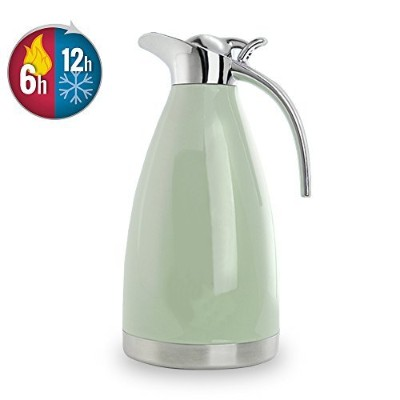 bonnoces 64オンスステンレススチールThermal Carafe–二重壁真空Insualted Thermos/Carafe with Lid–Coffee/TeaカラフェHeat...