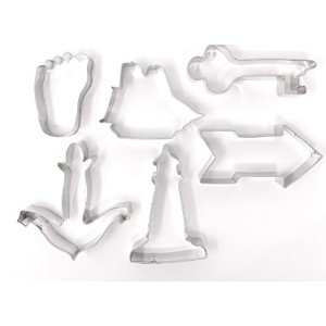 Set of 6LDS MutualテーマYoungメンズ/ YoungレディースCookie cutters- Peace in Christ、Embark神のサービスに、押しForward...