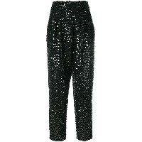 Balmain sequin embellished trousers - ブラック