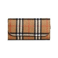 Burberry Vintage Check and Leather Continental Wallet - ヌード&ナチュラル