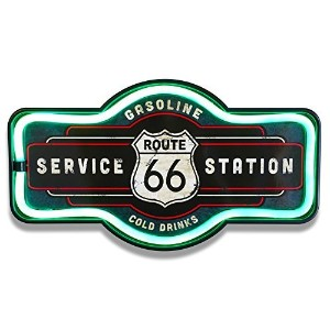 LEDロープ ネオンサイン ルート66 Marquee Shaped LED Neon Sign Route66