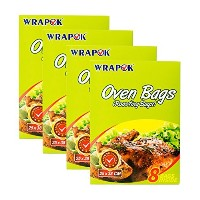 """wrapok 10"""" x15""""オーブンバッグRoastingバッグ電子レンジTurkey Meats Beef Cooking Bags クリア"""