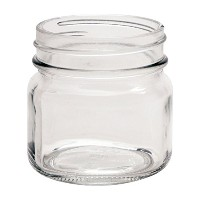 North Mountain供給8オンス滑らかな正方形Regular Mouth Mason Canning Jars–with SafetyボタンLids–ケースof 12 8オンス...