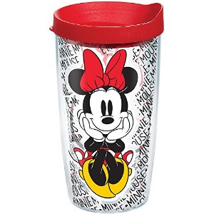 Tervis Disney–Minnieマウス名パターン16oz Tumbler with Red Lid 16oz クリア 1228129