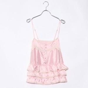 【SALE 88%OFF】ルーミィーズ Roomy's OUTLET ペプラムキャミ (ピンク)