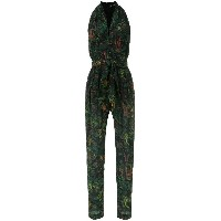 Andrea Marques V-neck printed jumpsuit - グリーン