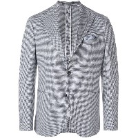 Cantarelli houndstooth print suit jacket - ホワイト