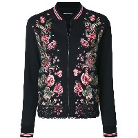 Marc Cain embroidered zipped jacket - ブラック