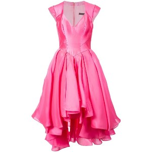 Rubin Singer flared sweetheart gown - ピンク