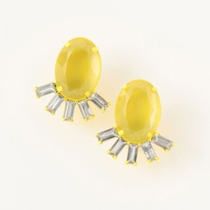 【LE JOUR ル ジュール】 【gemmy new york】MACRON COLOR EARRING イエロー系 レディース