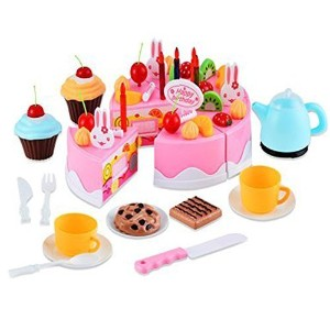 Arshiner DIYフルーツ誕生日ケーキIceクリームキットPretend Play Food Toy For Kids *AM001585