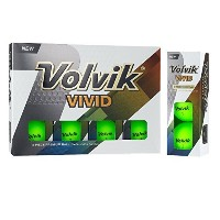 Volvik Vivid 3 Pc Golf Balls - Matte Green [並行輸入品]