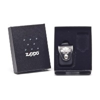 ZIPPO ギフトセット ハーレーダビッドソン本革ライターポーチ ブラック Harley Davidson Lighter Pouch - with loop gift set- HDP6
