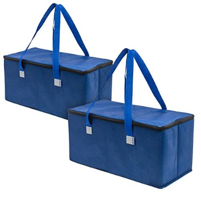 (Solid Navy) - Planet E Reusable Grocery Shopping Bags - Trunk Size Extra Large Collapsible...