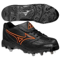 Mizuno Men's 9-Spike Classic G4 Low ( sz. 09.5, Black/Orange )