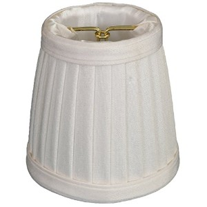 "Royal Designs Pleated Empire Chandelier Lamp Shade, White Size 3.5 (CS-109WH) by ""Royal Designs,..."