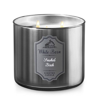 Bath & Body Worksホワイトバーン3-wick Candle in Smoked Birch