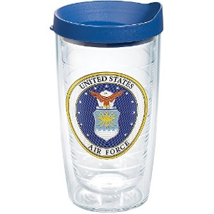 Tervis 1282777空軍クラシックSeal Flex Tumbler with Emblem andブルー蓋16オンス、クリア