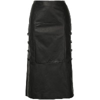 Olivier Theyskens clasp side midi skirt - ブラック