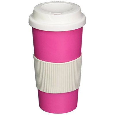 Coffee 470ml Thermal Mug Travel To Go Double Walled W/Lid Pink Reusable Cup