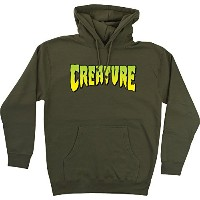 Creature SkateboardsロゴArmy Hooded Sweatshirt – Large