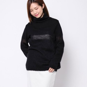 【SALE 70%OFF】ニューヨーク インダストリー  New York Industrie Outlet モヘヤ混ニット (ブラック)