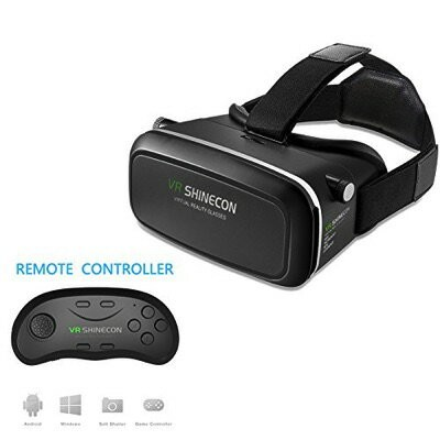 3D VRゴーグル VRヘッドセット 4.7-6インチ スマホ用 リモコン付 VR Headset Ying source 3D VR Headset Glasses Virtual Reality...