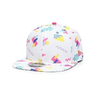 ニューエラ メンズ 帽子 キャップ【custom 9fifty retro block snapback hat】White