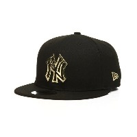 ニューエラ メンズ 帽子 キャップ【9fifty new york yankees metal framed snapback cap】Black