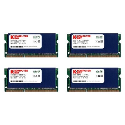 Komputerbay 32 GB (4 x 8 GB) ddr3 pc3 – 12800 1600 MHz SODIMM 204 - pinラップトップメモリ9 – 9 - 9 – 25...