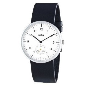 Braun Men's 3 Hand Quartz Movement Watch BN0024WHBKG With White Dial And Leather Strap【並行輸入】