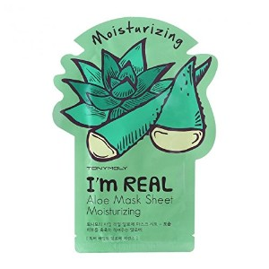(3 Pack) TONYMOLY I'm Real Aloe Mask Sheet Moisturizing (並行輸入品)
